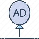 ad, advertising, air, balloon, marketing, promotion icon
