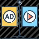 ad, advertisement, advertising, billboards, boards, media icon