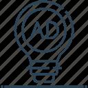 ad, advertising, bulb, creative, idea, marketing icon