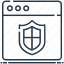 internet security, protection, security, shield, website icon
