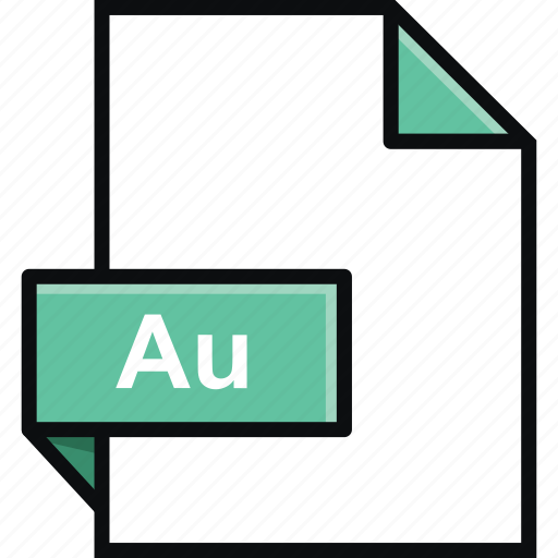adobe, au, audition, document, extension, file, format icon