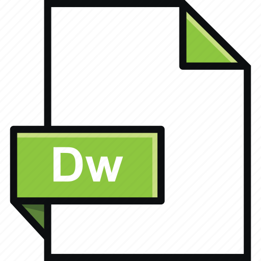 adobe, dreamweaver, dw, extension, format, platform, software icon