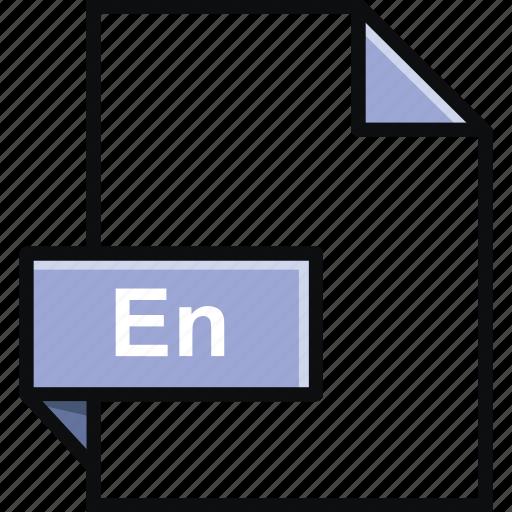 adobe, document, en, encore, extension, file, format icon