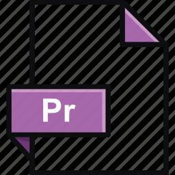 adobe, extension, format, platform, pr, premiere, software icon