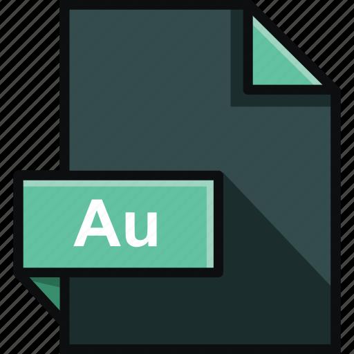 adobe, au, audition, extension, file, format, platform icon