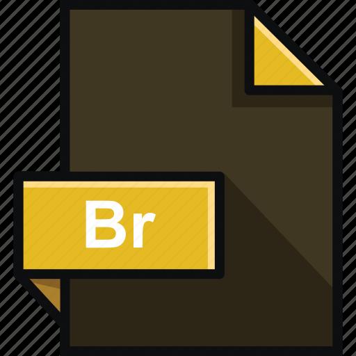 adobe, br, bridge, document, extension, file, format icon