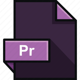 adobe, extension, file, format, platform, pr, premiere icon