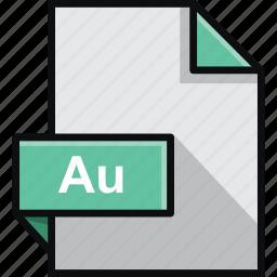 adobe, au, audition, document, extension, platform, software icon