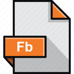 adobe, builder, extension, fb, flash, format, software icon