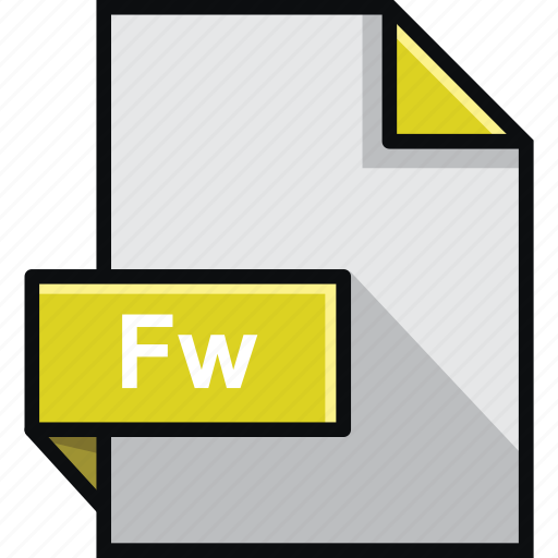 adobe, extension, fireworks, format, fw, platform, software icon