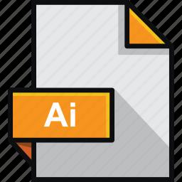 adobe, ai, document, extension, file, format, illustrator icon