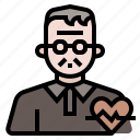 health, grandfather, ageing society, old man, elderly health issue icon
