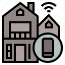 ageing society, home, remote, smarthome, wifi icon