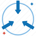 connect, coordination, data, integration, linked, productivity icon