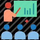 classroom, conference, meeting, presentation, seminar, training icon