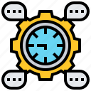 development, organizing, planning, project, timeline icon