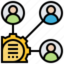 communication, developer, meeting, stakeholders, teammate icon