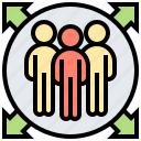 member, responsibility, role, scrum, team icon