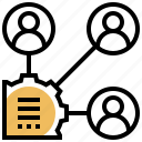 communication, meeting, developer, stakeholders, teammate icon