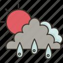 climate, raining, cloud, sunlight, weather