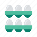 agriculture, eggs, farm, farming, organic icon