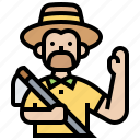 agriculture, farmer, harvesting, rural, work icon