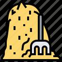 farm, field, haystack, pile, straw icon