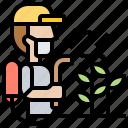 chemical, farmer, pesticide, repellent, spray icon