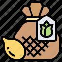 bag, grain, harvest, planting, seed