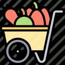 cart, harvest, vegetable, agriculture, farm