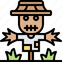 scarecrow, farm, field, meadow, agriculture