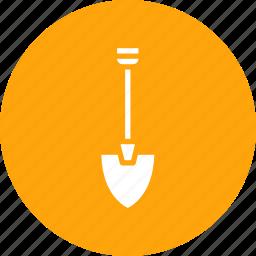construction, digging, equipment, machine, showel, tool icon