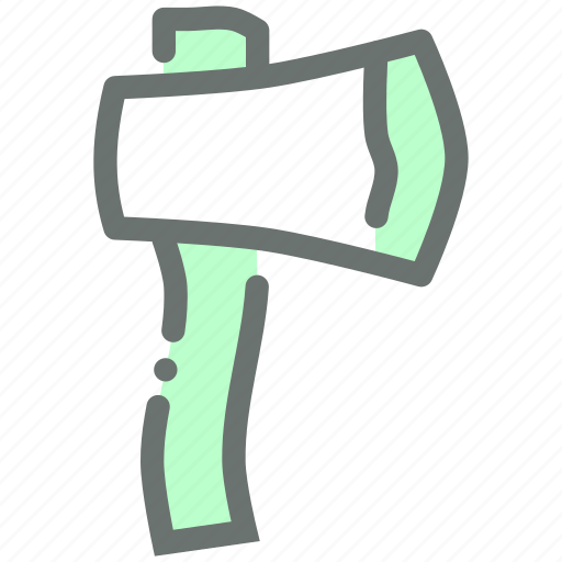 axe, cut, forest, lumberjack, tool, wood icon