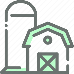 agriculture, barn, farm, garden, house, silo, storage icon