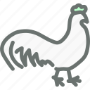 poultry, farm, agriculture, rooster, cock, bird