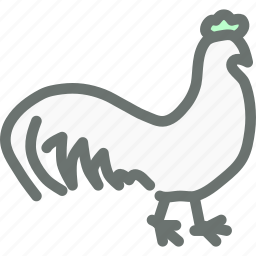 agriculture, bird, cock, farm, poultry, rooster icon
