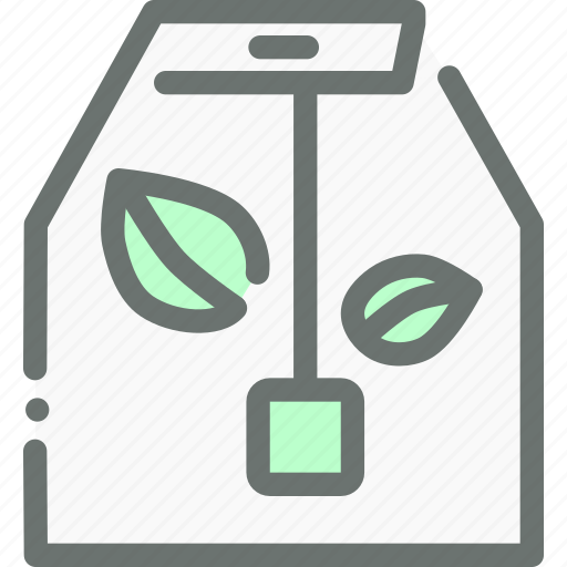 bag, dip, green, herbal, organic, tea icon