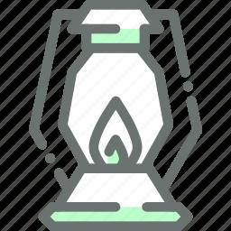 farm, farmer, gardener, lamp, lantern, light icon