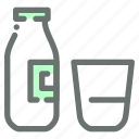 bottle, dairy, glass, milk icon