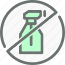 chemicals, forbidden, hormones, no, organic, pesticide, prohibited icon
