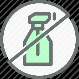 chemicals, forbidden, hormones, no, organic, pesticide, prohibited icon