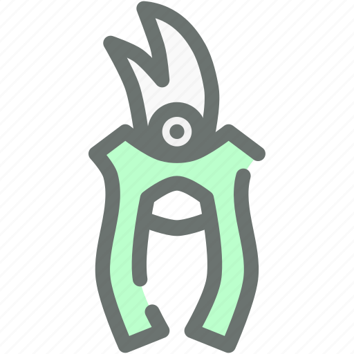 cut, garden, gardening, pliers, secateurs, tool icon