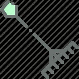 agriculture, farm, garden, gardening, rake, tool icon