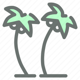 beach, coconut, holiday, plantation, summer, trees, vacation icon