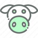 animal, cow, dairy, farm, livestock, milk icon