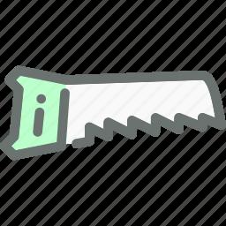 cut, garden, hand, saw, tool, wood icon