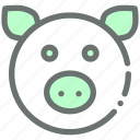 animal, cute, farm, hog, livestock, pig, piggy icon