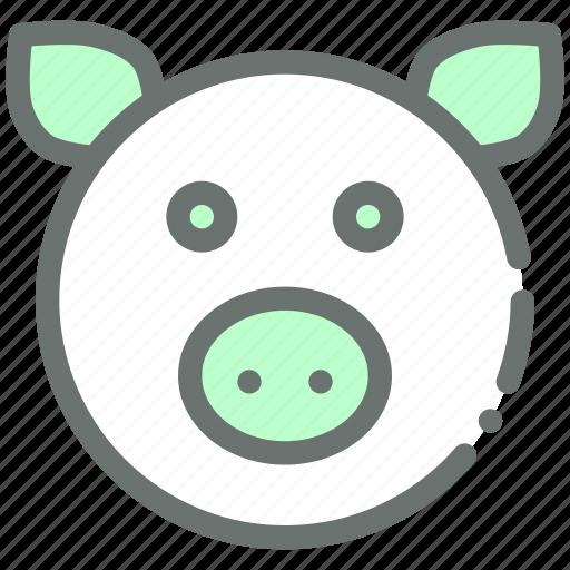 animal, cute, farm, hog, livestock, pig, piggy icon