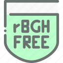 food, free, hormone, natural, organic, rgbh icon