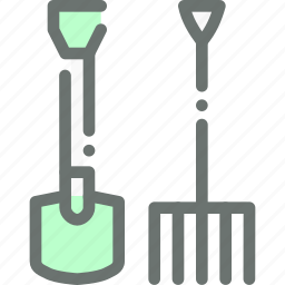 agriculture, farm, garden, gardening, pitchfork, shovel, tools icon
